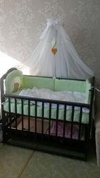 Кроватка детская,  укомплектованная (от 0 до 3 лет) Торг уместен!